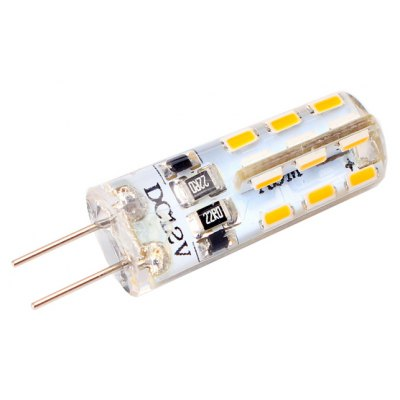 100LM G4 2W 24 SMD 3014 Silicone LED Corn Light