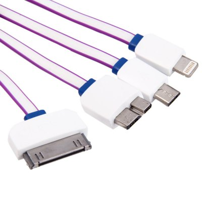 4 in 1 Charge Sync Cable with Micro USB 30Pin 8Pin USB 3.0