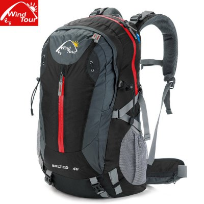 Wind Tour 40L Backpack with Rain CoverBackpacks<br>Wind Tour 40L Backpack with Rain Cover<br><br>For: Cycling, Camping, Fishing, Climbing, Hiking, Traveling, Adventure, Other<br>Material: Polyester<br>Features : Water Resistance, Rain Cover<br>Bag Capacity: 40L<br>Color: Black, Red, Blue, Orange, Army Green<br>Product weight   : 1.200 kg<br>Package weight   : 1.45 kg<br>Product size (L x W x H)   : 35 x 25 x 50 cm / 13.76 x 9.83 x 19.65 inches<br>Package size (L x W x H)  : 37 x 51 x 6 cm / 14.54 x 20.04 x 2.36 inches<br>Package Contents: 1 x Wind Tour 40L Backpack