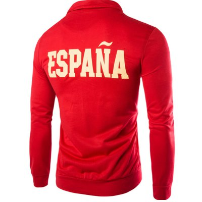 Espana Flag Embroidered Letters Print Patch Pocket Stand Collar Long Sleeves Mens SweatshirtMens Hoodies &amp; Sweatshirts<br>Espana Flag Embroidered Letters Print Patch Pocket Stand Collar Long Sleeves Mens Sweatshirt<br><br>Material: Cotton Blends<br>Clothing Length: Regular<br>Sleeve Length: Full<br>Style: Casual<br>Weight: 0.85KG<br>Package Contents: 1 x Sweatshirt