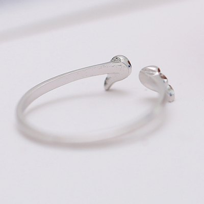 Фотография Charming Solid Color Wing Shape Cuff Ring For Women