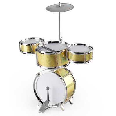 KANITONG Simulation Jazz Drum Set Educational Toy KNT - 056Kids Musical Instrument<br>KANITONG Simulation Jazz Drum Set Educational Toy KNT - 056<br><br>Product Model: KNT-056<br>Type: Intelligence toys<br>Age: 3 Years+<br>Material: ABS<br>Design Style: Instrument<br>Features: Educational<br>Puzzle Style: Other<br>Small Parts : No<br>Washing : No<br>Applicable gender: Unisex<br>Package Weight   : 0.8 kg<br>Package Size (L x W x H)  : 40 x 12 x 26 cm / 15.72 x 4.72 x 10.22 inches<br>Package Contents: 1 x Drum Set, 2 x Stick