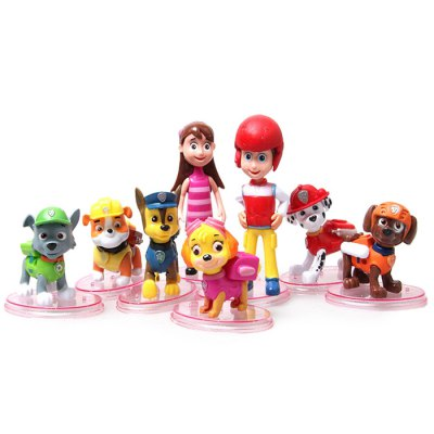 Classic Animation Characteristic Figure Models Figurine 8Pcs / Set