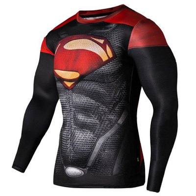 Cool 3D Superman Pattern Color Block Skinny Round Neck Long Sleeves Mens Quick-Dry T-ShirtMens Long Sleeves Tees<br>Cool 3D Superman Pattern Color Block Skinny Round Neck Long Sleeves Mens Quick-Dry T-Shirt<br><br>Material: Cotton,Spandex<br>Sleeve Length: Full<br>Collar: Round Neck<br>Style: Fashion<br>Weight: 0.420KG<br>Package Contents: 1 x T-Shirt<br>Embellishment: 3D Print<br>Pattern Type: Others