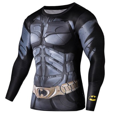 Quick-Dry Skinny Cool 3D Batman Pattern Round Neck Long Sleeves Mens Superhero T-ShirtMens Long Sleeves Tees<br>Quick-Dry Skinny Cool 3D Batman Pattern Round Neck Long Sleeves Mens Superhero T-Shirt<br><br>Material: Cotton,Spandex<br>Sleeve Length: Full<br>Collar: Round Neck<br>Style: Fashion<br>Weight: 0.45KG<br>Package Contents: 1 x T-Shirt<br>Embellishment: 3D Print<br>Pattern Type: Others
