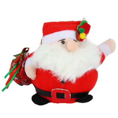 Cute Santa Claus Plush Toy Stuffed Doll Christmas Gift for Children - 7 inch