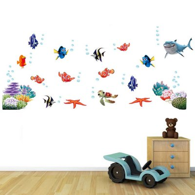 3D Underwater World Style WallpaperWall Stickers<br>3D Underwater World Style Wallpaper<br><br>Subjects: Botanical, Animal, Landscape<br>Art Style: Toilet Stickers, Plane Wall Stickers<br>Color Scheme: Multicolor<br>Functions: Decorative Wall Stickers<br>Hang In/Stick On: Lobby, Offices, Stair, Nurseries, Toilet, Bedrooms, Bathroom, Car, Living Rooms, Hotels, Kids Room, Cafes<br>Material: Vinyl(PVC)<br>Layout Size (L x W): 60 x 45cm<br>Effect Size (L x W): 130 x 60cm<br>Product weight   : 0.090 kg<br>Package weight   : 0.150 kg<br>Product size (L x W x H)   : 60 x 45 x 0.1 cm / 23.58 x 17.69 x 0.04 inches<br>Package size (L x W x H)  : 46 x 4 x 4 cm / 18.08 x 1.57 x 1.57 inches