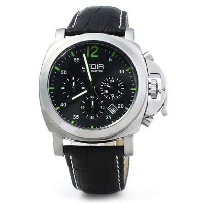JEDIR 3006 Men Quartz WatchMens Watches<br>JEDIR 3006 Men Quartz Watch<br><br>Brand: JEDIR<br>Watches categories: Male table<br>Watch style: Business<br>Watch color: Black, Brown, Blue, Black and Silver, Silver and Blue<br>Movement type: Quartz watch<br>Shape of the dial: Round<br>Display type: Analog<br>Case material: Stainless steel<br>Band material: Genuine leather<br>Clasp type: Pin buckle<br>Special features: Luminous, Moving small three stitches, Date<br>Water resistance: 30 meters<br>The dial thickness: 1.3 cm / 0.51 inches<br>The dial diameter: 5.0 cm / 1.97 inches<br>The band width: 2.0 cm / 0.79 inches<br>Wearable length: 18 - 22.5 cm / 7.09 - 8.86 inches<br>Product weight: 0.089 kg<br>Package weight: 0.139 kg<br>Product size (L x W x H): 27 x 5 x 1.3 cm / 10.61 x 1.97 x 0.51 inches<br>Package size (L x W x H): 28 x 6 x 2.3 cm / 11.00 x 2.36 x 0.90 inches<br>Package contents: 1 x JEDIR 3006 Watch