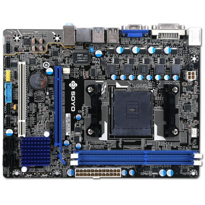 SOYO SY-A88M+ Computer MotherboardMotherboards<br>SOYO SY-A88M+ Computer Motherboard<br><br>Brand: SOYO<br>Model: SY-A88M+<br>Type: Motherboards<br>Form Factor: Micro ATX<br>Chip-set Manufacturer: AMD<br>Interface: USB3.0, VGA, DVI, PS/2, SATA, PCI Express, USB2.0<br>Memory Type: DDR3<br>Port: Ethernet, USB<br>DVI: Yes<br>VGA: Yes<br>Product Weight: 0.700 kg<br>Package Weight: 0.850 kg<br>Product Size: 22.5 x 17 x 4.7 cm / 8.84 x 6.68 x 1.85 inches<br>Package Size: 26.5 x 20.1 x 6.5 cm / 10.41 x 7.90 x 2.55 inches<br>Package Contents: 1 x SOYO SY-A88M+ Computer Motherboard, 1 x SATA Data Cable, 1 x Bezel, 1 x CD, 1 x Chinese Manual