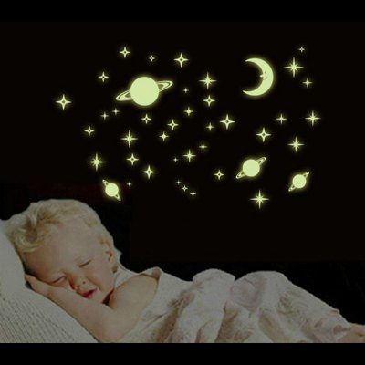 Microcosmos Style Fluorescent Wall Stickers