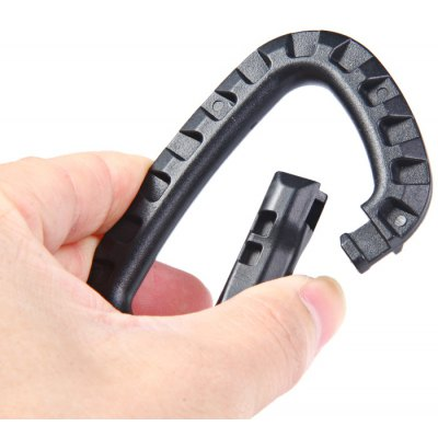 Y280 10pcs D-shaped Carabiner with 80kg Load Bearing