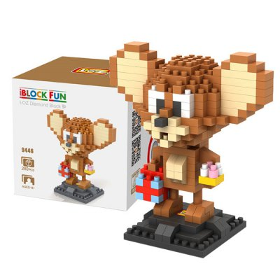 LOZ 280Pcs L - 9446 Tom and Jerry Mouse Figure Building Block Educational Toy for Brain Thinking