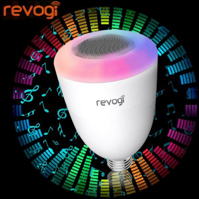 Revogi E27 Smart WiFi Speaker LED BulbSmart Lighting<br>Revogi E27 Smart WiFi Speaker LED Bulb<br><br>Base Type: E27<br>Type: Smart Light<br>Output Power: 15W<br>CCT/Wavelength: 3000K<br>Voltage (V): AC 110-240<br>Lifespan: 25000h<br>Features: Energy Saving, Long Life Expectancy, Dimming, Remote-Controlled, Low Power Consumption<br>Function: Studio and Exhibition Lighting, Home Lighting, Commercial Lighting<br>Available Light Color: RGB, White<br>Product Weight: 0.242 kg<br>Package Weight: 0.32 kg<br>Product Size (L x W x H): 14.1 x 8.6 x 8.6 cm / 5.54 x 3.38 x 3.38 inches<br>Package Size (L x W x H): 16 x 10 x 10 cm / 6.29 x 3.93 x 3.93 inches<br>Package Contents: 1 x Revogi Bulb