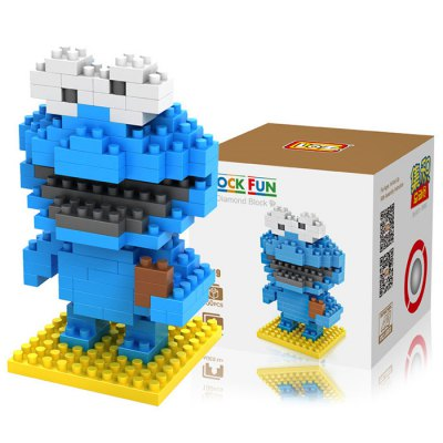 LOZ 150Pcs M - 9119 Sesame Street Cookie Monster Style Building Block Educational Toy for Brain Thinking