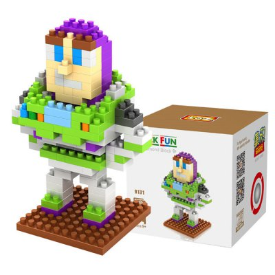 LOZ 190Pcs M - 9131 Toy Story Buzz Lightyear Building Block Educational Toy for Brain Thinking
