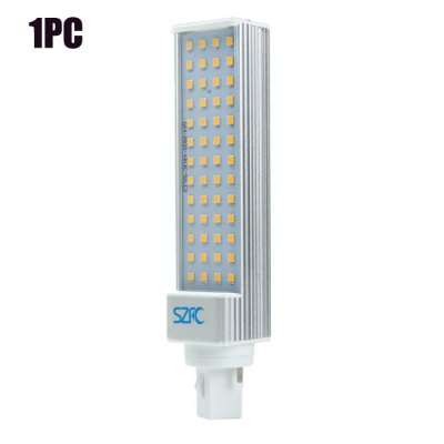 SZFC G24 SMD 2835 900Lm 9W LED Horizontal Plug BulbLED Light Bulbs<br>SZFC G24 SMD 2835 900Lm 9W LED Horizontal Plug Bulb<br><br>Brand : SZFC<br>Holder: E27, G24<br>Type: Horizontal Plug Lamp<br>Output Power: 9W<br>Emitter Types: SMD 2835<br>Total Emitters: 52<br>Luminous Flux: 900LM<br>CCT/Wavelength: 3000K, 6000K<br>Voltage (V): AC 85-265/50-60Hz<br>Features: Energy Saving, Long Life Expectancy, 80% Brightness<br>Function: Studio and Exhibition Lighting, Home Lighting, Commercial Lighting<br>Available Light Color: White, Warm White<br>Sheathing Material: Aluminum, Plastic<br>Product Weight: 0.128 kg<br>Package Weight: 0.160 kg<br>Product Size (L x W x H): 17 x 3.5 x 2.5 cm / 6.68 x 1.38 x 0.98 inches<br>Package Size (L x W x H): 21 x 5 x 5 cm / 8.25 x 1.97 x 1.97 inches<br>Package Contents: 1 x SZFC LED Horizontal Plug Light