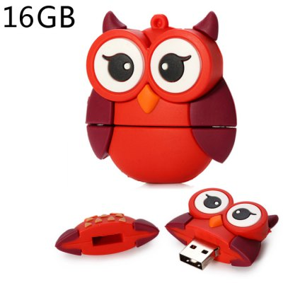 16GB Big Eyes Red Owl USB 2.0 Flash Drive