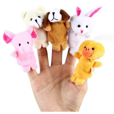 5Pcs Animal Educational Finger Puppet Toy Christmas Present