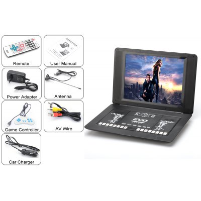 17 inch Portable DVD Player 270 Degrees Swivel Screen от GearBest.com INT