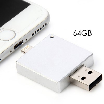 2 in 1 64GB USB 2.0 i-Flash Drive