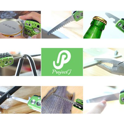Jakemy JM-PJ1002 9 in 1 Multifunctional Folding ToolOther Tools<br>Jakemy JM-PJ1002 9 in 1 Multifunctional Folding Tool<br><br>Brand: Jakemy<br>Color: Green<br>Function: Repair<br>Material: Alloy Steel<br>Model: JM-PJ1002<br>Package Contents: 1 x Jakemy JM-PJ1002 9 in 1 Multifunctional Folding Tool<br>Package size (L x W x H): 13.50 x 11.00 x 6.50 cm / 5.31 x 4.33 x 2.56 inches<br>Package weight: 0.200 kg<br>Product size (L x W x H): 9.00 x 10.00 x 5.50 cm / 3.54 x 3.94 x 2.17 inches<br>Product weight: 0.120 kg<br>Special features: 9 in 1<br>Type: Hand tools