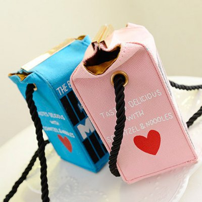 Фотография Cute Milk Box Shape and Canvas Design Women