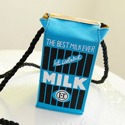 Cute Milk Box Shape and Canvas Design Women