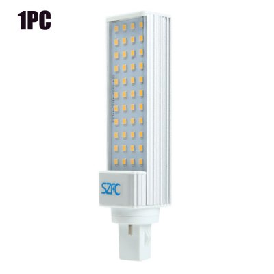 SZFC G24 SMD 2835 780Lm 8W LED Horizontal Plug LampLED Light Bulbs<br>SZFC G24 SMD 2835 780Lm 8W LED Horizontal Plug Lamp<br><br>Brand : SZFC<br>Base Type: G24, E27<br>Type: Horizontal Plug Lamp<br>Output Power: 8W<br>Emitter Types: SMD 2835<br>Total Emitters: 44<br>Luminous Flux: 780LM<br>CCT/Wavelength: 3000K, 6000K<br>Voltage (V): AC 85-265/50-60Hz<br>Features: 80% Brightness, Energy Saving, Long Life Expectancy<br>Function: Home Lighting, Commercial Lighting, Studio and Exhibition Lighting<br>Available Light Color: White, Warm White<br>Sheathing Material: Plastic, Aluminum<br>Product Weight: 0.110 kg<br>Package Weight: 0.149 kg<br>Product Size (L x W x H): 14.5 x 3.5 x 2.5 cm / 5.70 x 1.38 x 0.98 inches<br>Package Size (L x W x H): 17 x 4.5 x 4.5 cm / 6.68 x 1.77 x 1.77 inches<br>Package Contents: 1 x SZFC LED Horizontal Plug Light
