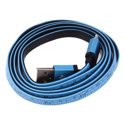 Tape Design Flat 8 Pin Charging and Data Sync Cable - 110cm