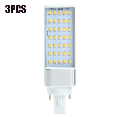 3PCS SZFC G24 SMD 2835 680Lm 7W LED Horizontal Plug Lamp