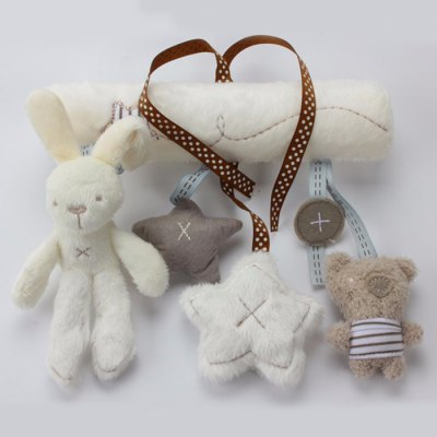 Rabbit Bed Hanging Hand Bell Ring Rattle Crib Toy for Baby Gift