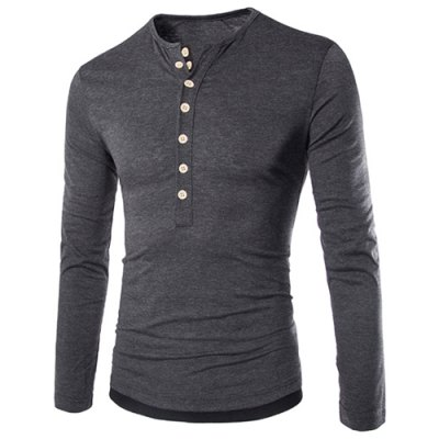 Modish Slimming Round Neck Color Block Button Design Long Sleeve Polyester T-Shirt For MenMens Long Sleeves Tees<br>Modish Slimming Round Neck Color Block Button Design Long Sleeve Polyester T-Shirt For Men<br><br>Material: Polyester<br>Sleeve Length: Full<br>Collar: Round Neck<br>Style: Fashion<br>Weight: 0.267KG<br>Package Contents: 1 x T-Shirt<br>Embellishment: Button<br>Pattern Type: Patchwork