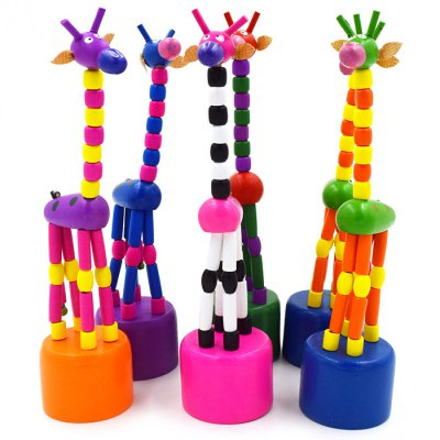 Dancing Giraffe Wooden Toy Colorful Decoration Funny GiftClassic Toys<br>Dancing Giraffe Wooden Toy Colorful Decoration Funny Gift<br><br>Age: Above 3 Years<br>Material: Wood<br>Package Weight   : 0.05 kg<br>Package Size (L x W x H)  : 10 x 8 x 4 cm / 3.93 x 3.14 x 1.57 inches<br>Package Contents: 1 x Giraffe