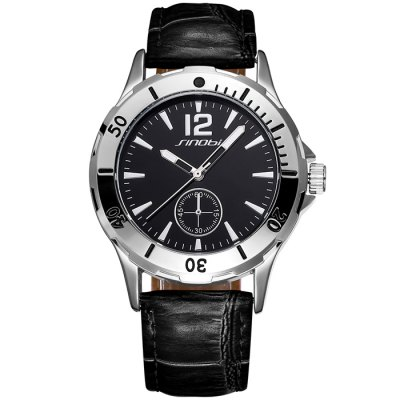 SINOBI 2636 Men Japan Quartz Watch with PU Leather BandMens Watches<br>SINOBI 2636 Men Japan Quartz Watch with PU Leather Band<br><br>Brand: Sinobi<br>Watches categories: Male table<br>Watch style: Fashion<br>Available color: White, Brown, Brown and Black, Black<br>Movement type: Quartz watch<br>Shape of the dial: Round<br>Display type: Analog<br>Case material: Alloy<br>Band material: PU leather<br>Clasp type: Pin buckle<br>Special features: Decorating small sub-dials<br>The dial thickness: 1.3 cm / 0.51 inches<br>The dial diameter: 3.9 cm / 1.53 inches<br>The band width: 1.9 cm / 0.75 inches<br>Product weight: 0.061 kg<br>Package weight: 0.111 kg<br>Product size (L x W x H): 24.3 x 3.9 x 1.3 cm / 9.55 x 1.53 x 0.51 inches<br>Package size (L x W x H): 25.3 x 4.9 x 2.3 cm / 9.94 x 1.93 x 0.90 inches<br>Package contents: 1 x SINOBI 2636 Watch