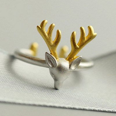 Trendy Christmas Style Elk Shape Cuff Ring For Women
