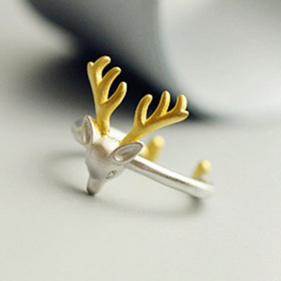 trendy-christmas-style-elk-shape-cuff-ring-for-women