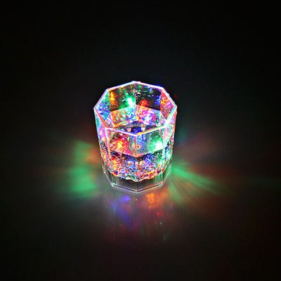 Water Activated Flashing Octagonal Whisky Cup