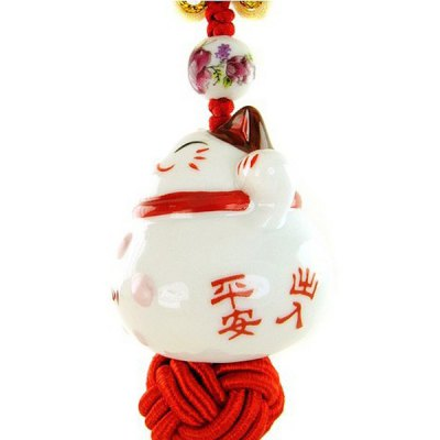 LEBOSH Ceramic Lucky Cat Car Decoration for Wealth WishCar Ornaments &amp; Pendant<br>LEBOSH Ceramic Lucky Cat Car Decoration for Wealth Wish<br><br>Type: Other Decorations<br>Brand: LEBOSH<br>Model  : KL-GUAJIAN-ZHAOCAIMAO<br>Color  : White<br>Product weight   : 0.080 kg<br>Package weight   : 0.140 kg<br>Product size (L x W x H)  : 35 x 4 x 4 cm / 13.76 x 1.57 x 1.57 inches<br>Package size (L x W x H)  : 14 x 5 x 5 cm / 5.50 x 1.97 x 1.97 inches<br>Package Contents: 1 x Pendant