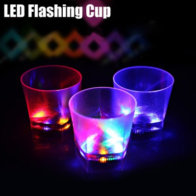 Water Activated Flashing Pentagon LED Whisky Cup