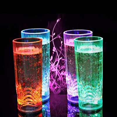 Water Sensing LED Drink Cup with Flower