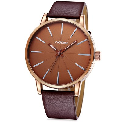 SINOBI 2651 Japan Quartz Leather Band Male Watch - SinobiMens Watches<br>SINOBI 2651 Japan Quartz Leather Band Male Watch<br><br>Brand: Sinobi<br>Watches categories: Male table<br>Watch style: Casual<br>Available color: Black, White, Brown<br>Movement type: Quartz watch<br>Shape of the dial: Round<br>Display type: Analog<br>Case material: Alloy<br>Band material: PU leather<br>Clasp type: Pin buckle<br>The dial thickness: 0.9 cm / 0.35 inches<br>The dial diameter: 4.3 cm / 1.69 inches<br>The band width: 2.0 cm / 0.79 inches<br>Product weight: 0.047 kg<br>Package weight: 0.097 kg<br>Product size (L x W x H): 24.6 x 4.3 x 0.9 cm / 9.67 x 1.69 x 0.35 inches<br>Package size (L x W x H): 25.6 x 5.3 x 1.9 cm / 10.06 x 2.08 x 0.75 inches<br>Package contents: 1 x SINOBI 2651 Watch