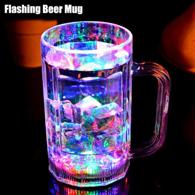 Water Sensing RGB LED Flashing Beer Mug Cup
