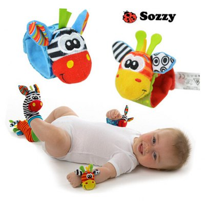 Creative Animal Design Infant Baby Wrist Rattle
