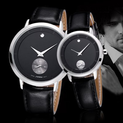 SINOBI 2652 Couple Japan Quartz Watch with Genuine Leather BandCouples Watches<br>SINOBI 2652 Couple Japan Quartz Watch with Genuine Leather Band<br><br>Brand: Sinobi<br>Watches categories: Couple tables<br>Watch style: Business<br>Available color: Black<br>Shape of the dial: Round<br>Movement type: Quartz watch<br>Display type: Analog<br>Case material: Alloy<br>Band material: Genuine leather<br>Clasp type: Pin buckle<br>Water resistance: 50 meters<br>Special features: Moving small one stitch<br>Package weight: 0.182 kg<br>Package size (L x W x H): 26 x 5.1 x 1.9 cm / 10.22 x 2.00 x 0.75 inches<br>The male dial dimension (L x W x H): 4.1 x 4.1 x 0.9 cm / 1.61 x 1.61 x 0.35 inches<br>The male watch band dimension (L x W): 25 x 0.9 cm / 9.83 x 0.75 inches<br>The male watch weight: 0.073 kg<br>The male watch size (L x W x H): 25 x 4.1 x 0.9 cm / 9.83 x 1.61 x 0.35 inches<br>The female dial dimension (L x W x H): 3.2 x 3.2 x 0.7 cm / 1.26 x 1.26 x 0.28 inches<br>The female watch band dimension (L x W): 23 x 1.5 cm / 9.06 x 0.59 inches<br>The female watch weight: 0.059 kg<br>The female size (L x W x H): 23 x 3.2 x 0.7 cm / 9.04 x 1.26 x 0.28 inches<br>Package contents: 2 x SINOBI 2652 Watch