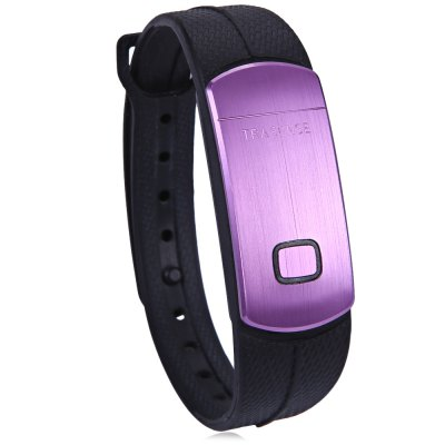 TRASENSE SH06 Smart WristbandSmart Wristband<br>TRASENSE SH06 Smart Wristband<br><br>Brand: TRASENSE<br>Bluetooth version: Bluetooth 4.0<br>People: Unisex table<br>Waterproof: YES<br>Waterproof rating: IP67<br>Colors: Black, Purple<br>Screen: NO<br>Battery type: Polymer lithium battery<br>Battery capacity: 45mAh<br>Standby time: About 30 days<br>Compatible OS: Android, iOS<br>Compatability: Android 4.3 / iOS 7.0 and above system<br>Language: English<br>Functions: Pedometer, Sleep management, Alarm clock, Call reminder<br>Alert type: Vibration<br>Case material: Aluminium<br>Band material: TPSiV<br>Product weight: 0.033 kg<br>Package weight : 0.1 kg<br>Package size (L x W x H): 13 x 9 x 3.5 cm / 5.11 x 3.54 x 1.38 inches<br>Package contents: 1 x TRASENSE SH06 Smart Wristwatch, 1 x Chinese and English Manual, 1 x USB Charging Dock