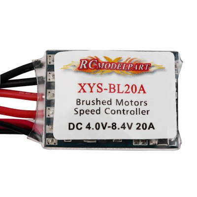 XYS - BL20A 20A Brushed ESC for 1 / 16 1 / 18 Scale Remote Control Car Boat Model от GearBest.com INT
