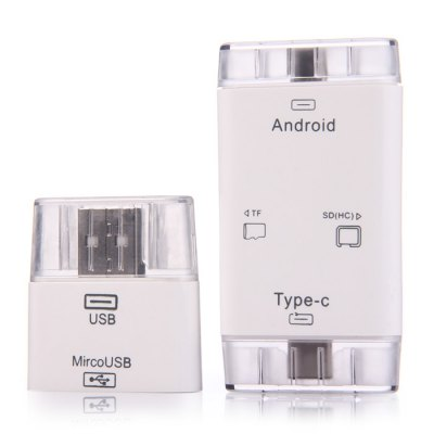 3 in 1 USB Type-C to USB 2.0 Micro USB Card Reader