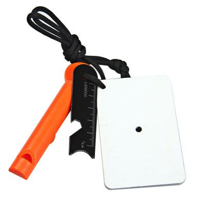 LM-6WCT Multi-function Fire Starter Signal Mirror