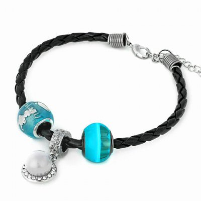 Trendy Faux Pearl Noctilucence Bead Bracelet For Women