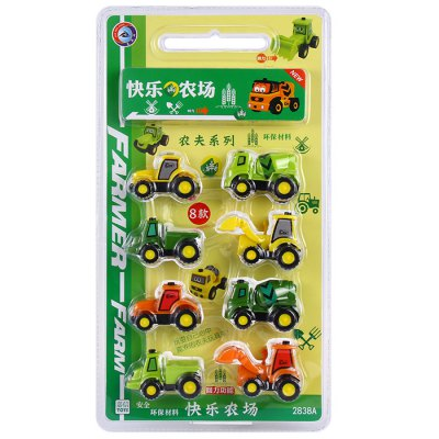 SAN REN HANG No. 2838A 8 x Mini Agricultural Vehicle Pull Back Car Boy Gift Fun Game Safe Game от GearBest.com INT
